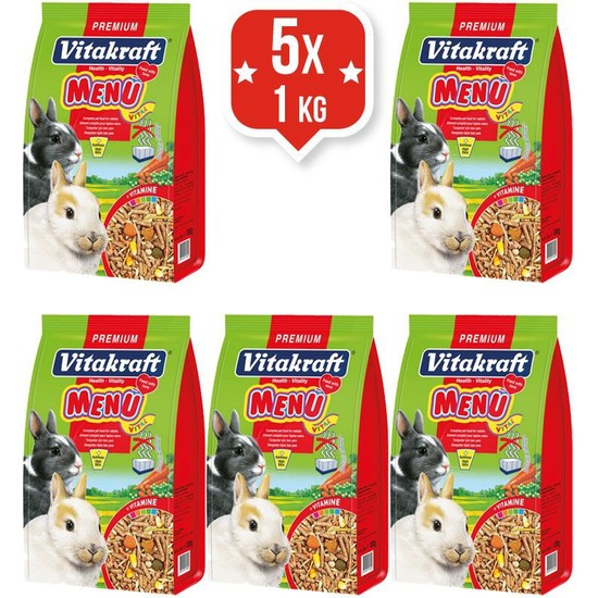 Vitakraft Menü Vital Premium Tavşan Yemi 1Kg X 5 Adet