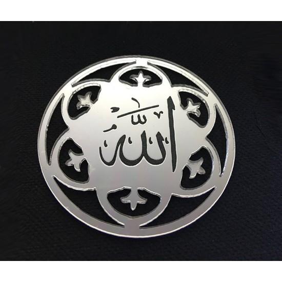 Elitetime Ayet Allah Lafzı Yuvarlak Pleksi 2 Mm Gümüş Pk:10