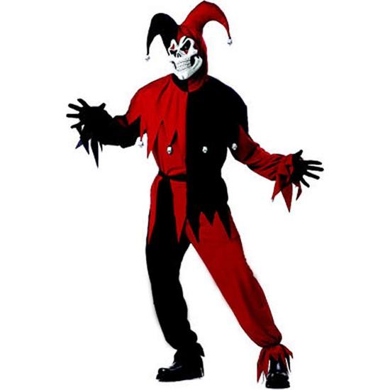 Kostümce Wicked Jester Kostümü Yetişkin