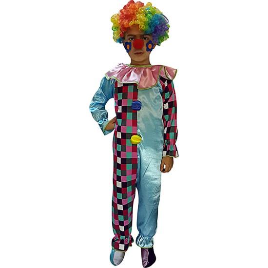 Kostümce Çocuk Tulum Palyaço Kostümü