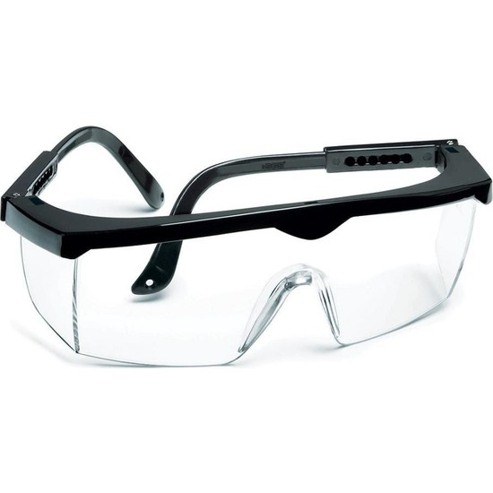 Beyaz Camlı Koruyucu Gözlük Şeffaf