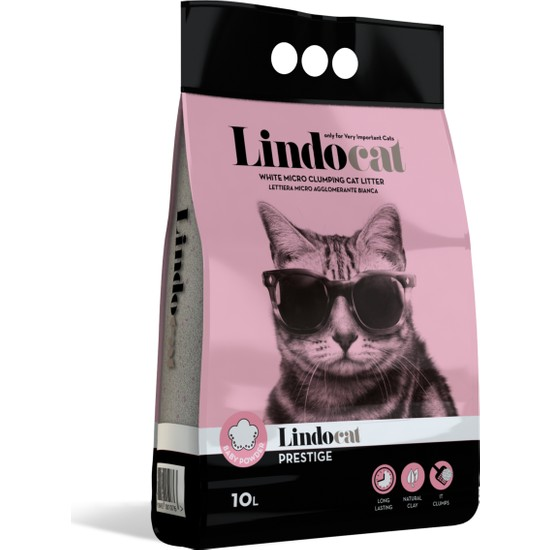 Lindo Cat Bebek Parfümlü İnce Kedi Kumu 10 Lt