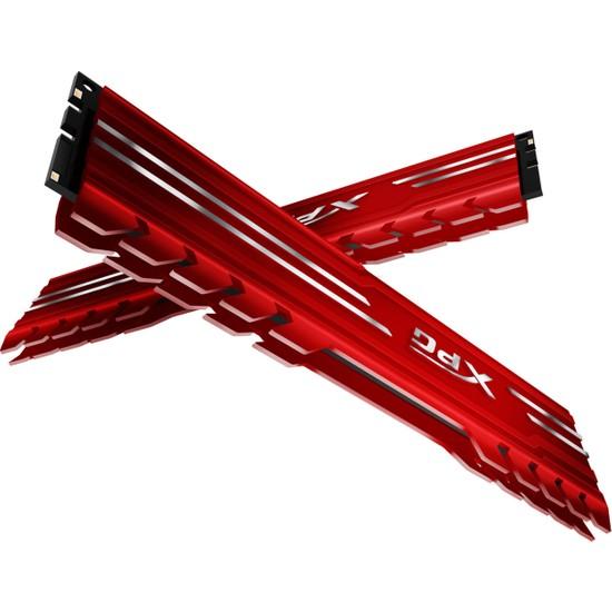 Adata XPG Gammix D10 2x8GB 3000MHz DDR4 Dual Channel Ram Kiti - Kırmızı AX4U300038G16-DRG
