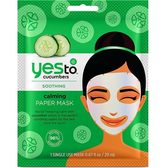 Yes To Cucumbers Calming Paper mask 20ml