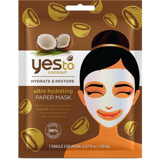 Yes To Coconut Ultra Hydrating Paper Mask 20ml