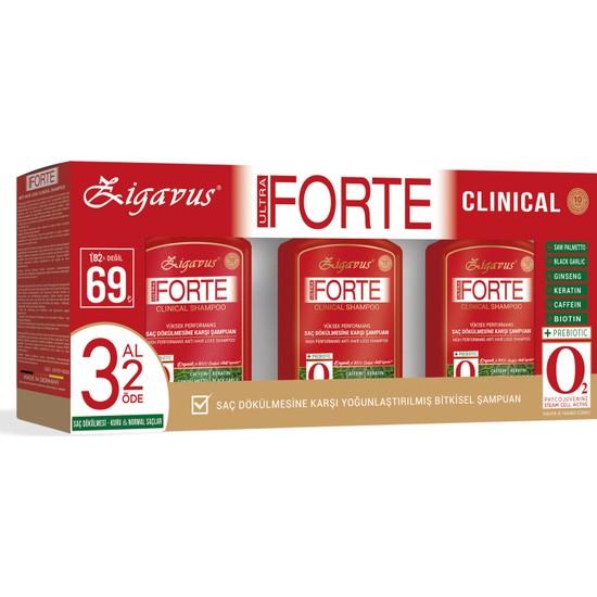 Zigavus Forte Ultra Clinical -Kuru ve Normal Saçlar- 3 Al 2 Öde