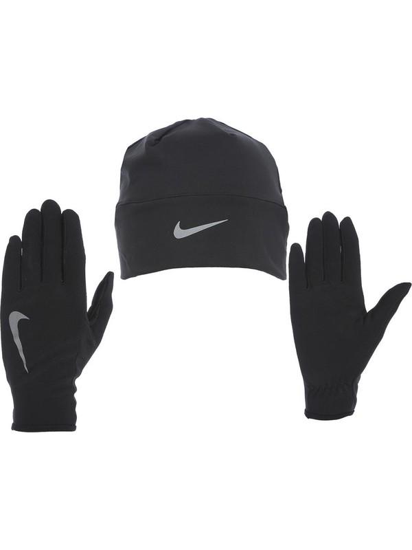 Nike N.Rc.37.082.Sm Mens Run Dry Hat And Glove Set Bay Bere ve Eldiven Seti