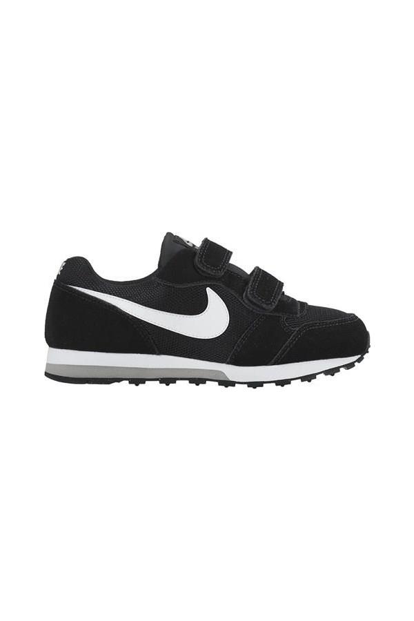 807317-001 Nike Md Runner 2 (PSV) Black / White-Wolf Gray Sport Shoes