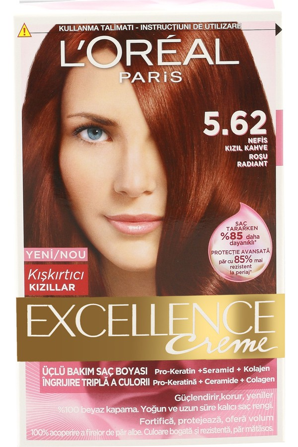 Loreal Paris Excellence Creme Hair Color 5.62 Red Brown