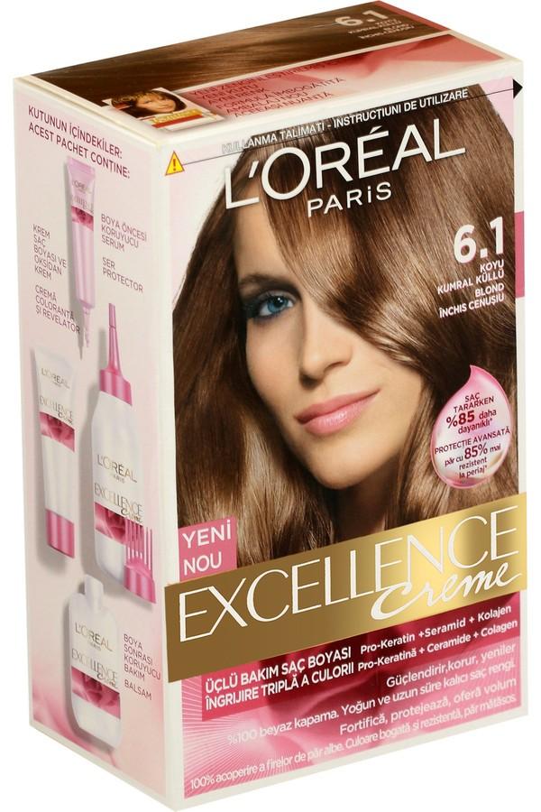 Loreal Paris Excellence Creme Hair Dye 6.1 Dark Brown Ash