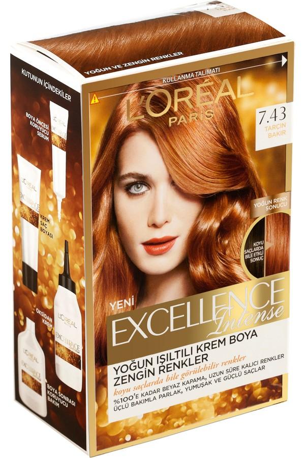 Loreal Paris Excellence Hair Color 7.43 Cinnamon Copper