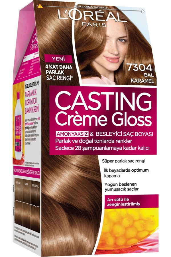 Loreal Paris Honey Caramel Hair Color 7304