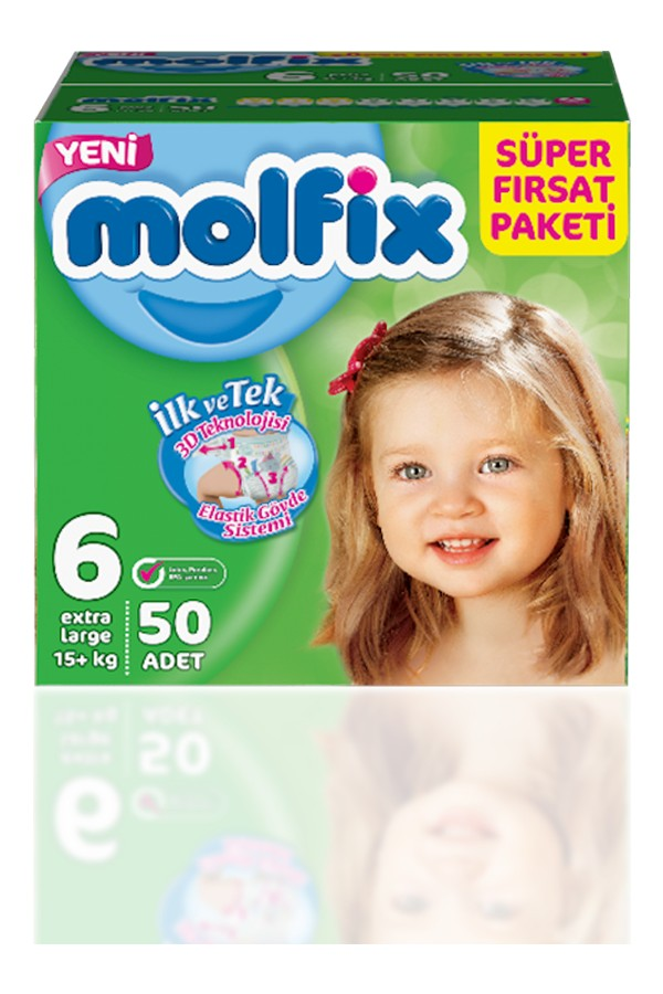 Molfix Diapers Size 3 Midi Super Deal Pack 94 units