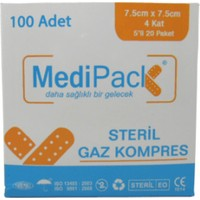 Medipack 7,5*7,5 4kat Steril Spanç