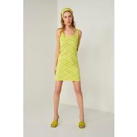 Join Us Neon Askılı Triko Elbise-Sarı