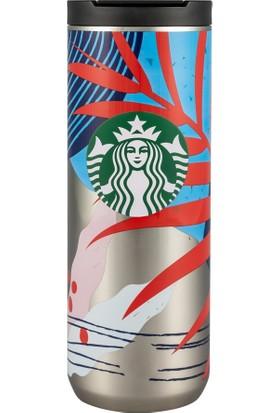 Starbucks® Çiçek Tasarımlı Termos - 473 ml
