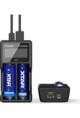 Xtar VC2S - Taşınabilir LCD Ekranlı Li-Ion/ni-Mh/ni-Cd Pil Şarj Cihazı