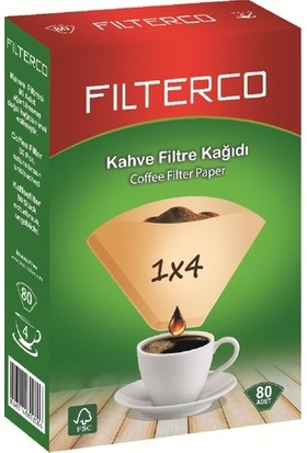 Filterco Kahve Filtre Kağıdı 1 x 4 80 Li