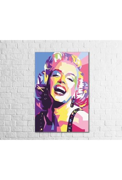 Fandomya Ahşap Poster Marilyn Monroe Çok Renkli 12X17CM + Çift Taraflı Bant