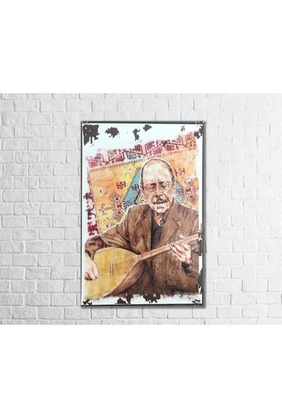 Fandomya Ahşap Poster Neşet Ertaş 12X17CM + Çift Taraflı Bant