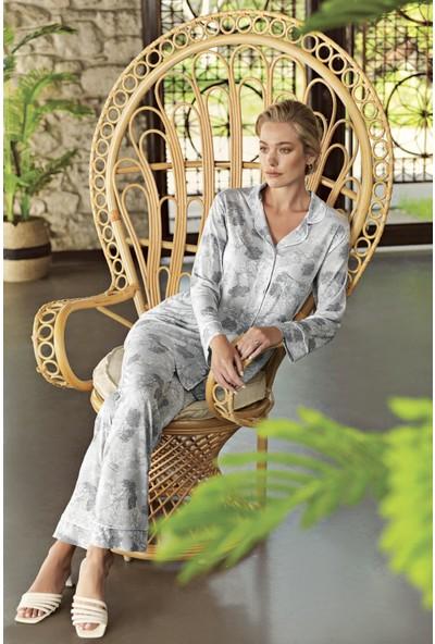 Artış Kadın Desenli Pijama Takımı 10211 21Y