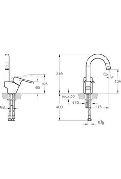 Artema Axe S Lavabo Bataryası A42436