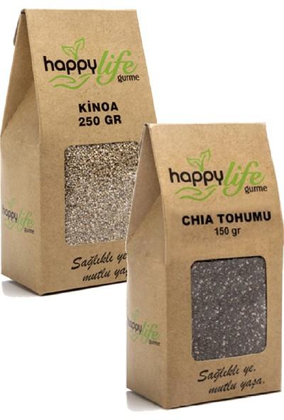 Happy Life Organik Kinoa ve Chia Tohumu Seti