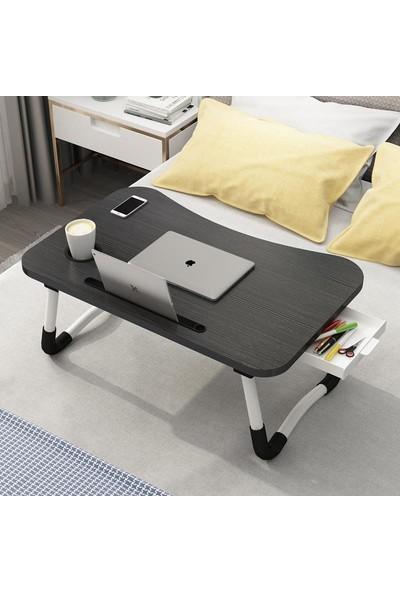 Taşınabilir Katlanır Çok Amaçlı Laptop Tablet Çalışma Masası ve Kahvaltı Sehpası