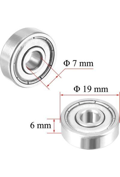 Dünya Magnet 10 Adet 607ZZ Rulman - Metal Mühürlü Çok Amaçlı Bilye Rulman, 7 x 19 x 6 Ölçülerinde