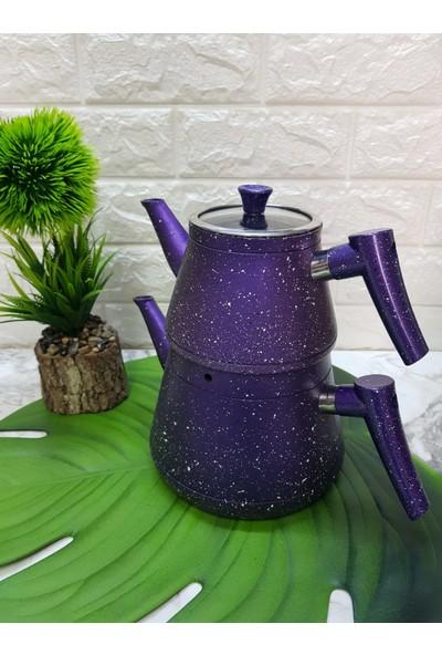 Dora Mor Granit Çaydanlık