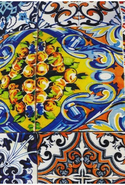 B&M Design Mozaik Desen Kırlent Kılıfı