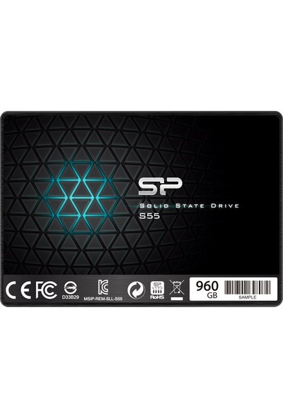 Silicon Power S55 960 GB 560MB-530MB/S 2.5 Sata 3.0 SSD SP960GBSS3S55S25