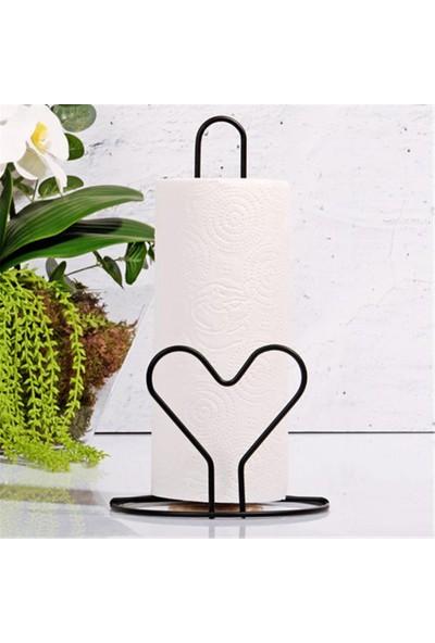 Sys Store Kalp Figürlü Siyah Renk Dekoratif Modern Kağıt Havluluk