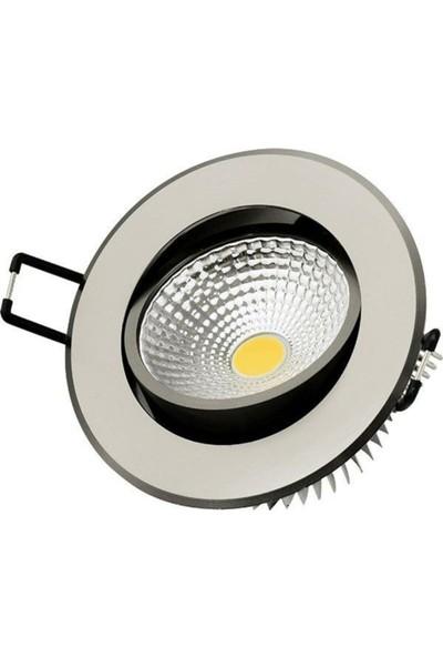 Erg 5 W Krom Kasa Beyazışık Cob LED 8 Adet LED Spot
