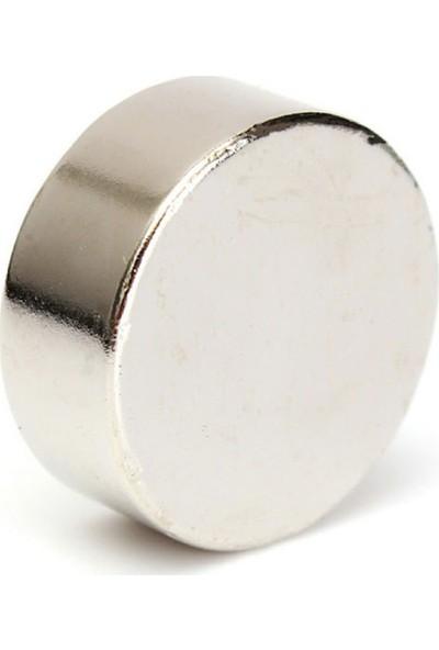Dünya Magnet Neodyum Mıknatıs Güçlü Silindir D25 X10 mm 2'li Paket