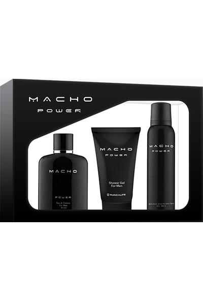 Hunca Life Macho Power Set Erkek Edp + Duş Jeli + Deodorant