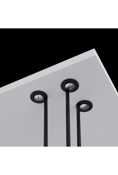 Larose Zigon Sehpa Ayağı Maşuk Siyah 4 Lü 40 cm Yükseklik Metal Ayak Firkete
