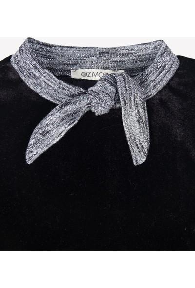 Ozmoz Kadife Siyah Çocuk Elbise