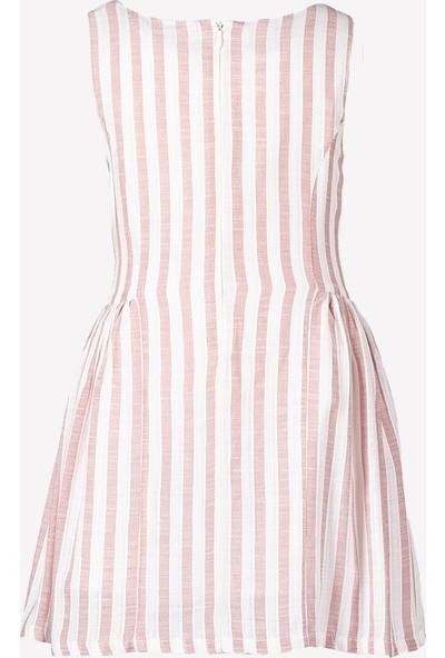 Ozmoz Kız Çocuk Çizgili Dokuma Elbise