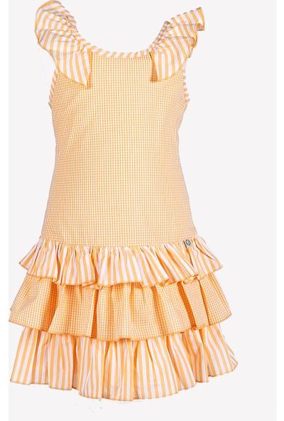 Ozmoz Fırfırlı Kız Çocuk Yazlık Elbise