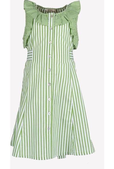 Ozmoz Çizgili Kız Çocuk Yazlık Elbise