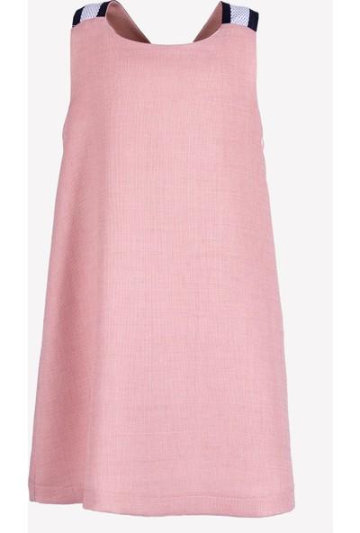 Ozmoz Kız Çocuk Sırtı Çapraz Askılı Yazlık Elbise