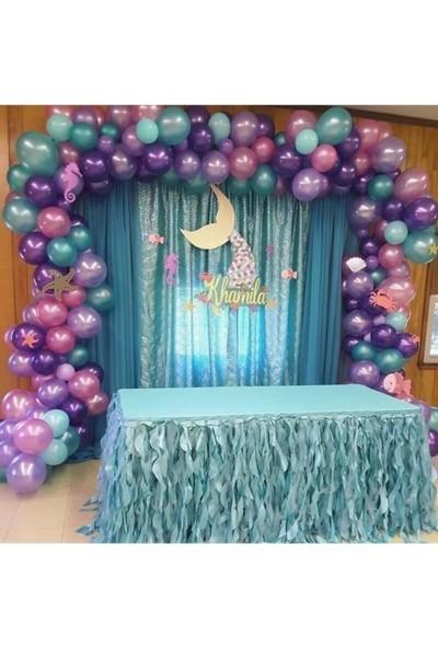 Beysüs Deniz Kızı Konsept Metalik Balon ve Balon Zinciri