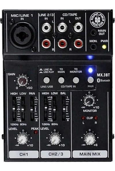 Topp Pro Mx.3bt 3 Kanal Usb/bluetooth Deck Mixer
