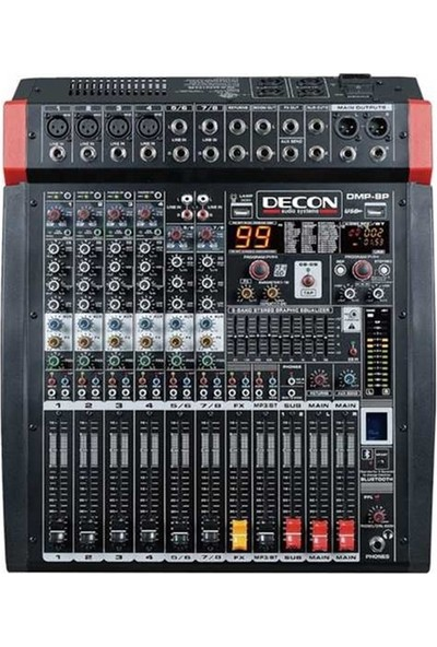 Decon Dm-8p 8 Kanal 1300W Power Mikser