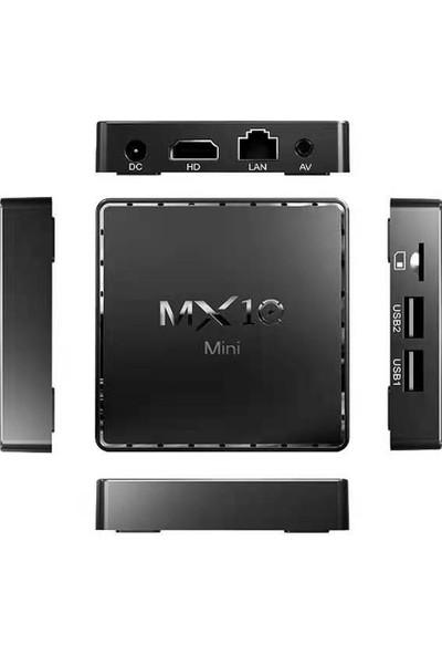 Auvc MX10 Mini Android 10.0 Smart TV Box UHD 4K Media Player Au-8G (Yurt Dışından)
