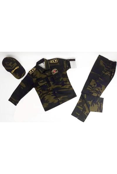 Liyavera Komando Asker Kostümü Çocuk Kıyafeti (Oyuncaksız)