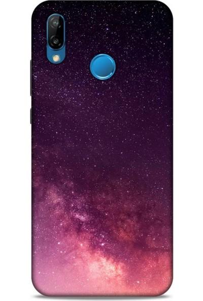 Lopard Huawei P20 Lite Uyumlu Kılıf Gece's (10) Full Koruma Kılıfı Kızıl Gece