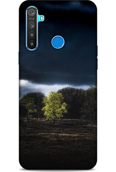 Lopard Oppo Realme 5i Uyumlu Kılıf Gece's (11) Tam Koruma Siyah
