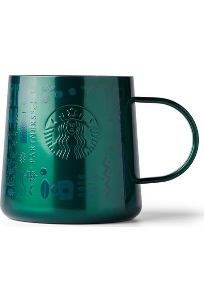 Starbucks® 50. Yıl Özel Seri Kupa - Koyu Yeşil Renkli Paslanmaz Çelik 414 ml